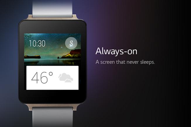 Une montre connectée avec un écran qui ne s'éteint jamais chez LG