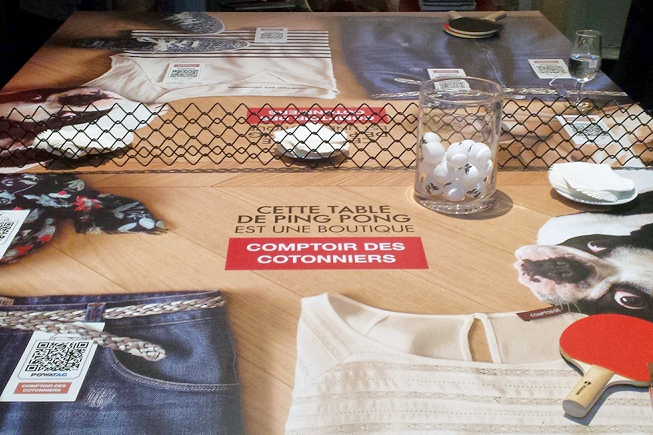 Le shopping depuis n'importe où grâce au QR Code pour le Comptoir des cotonniers