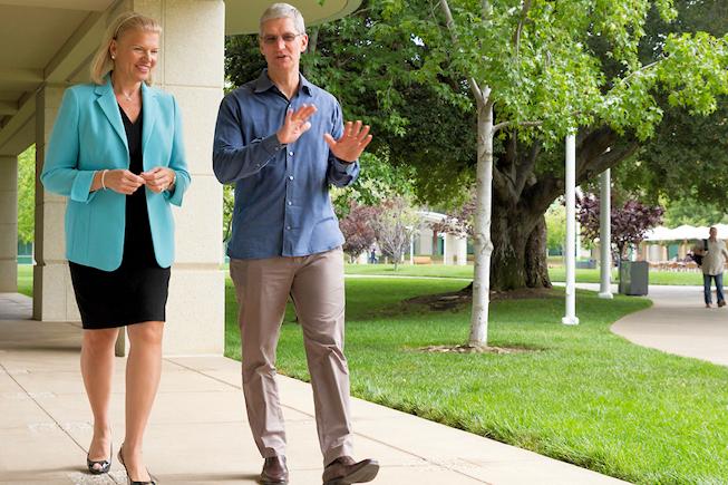 Apple roi du bureau grâce à IBM