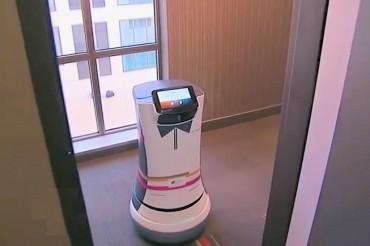 Un robot assure le room service à l'hôtel Aloft de Cupertino