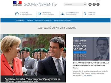 Site Web du gourvernement