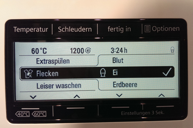 La machine à laver Top-IQ 800 de Siemens