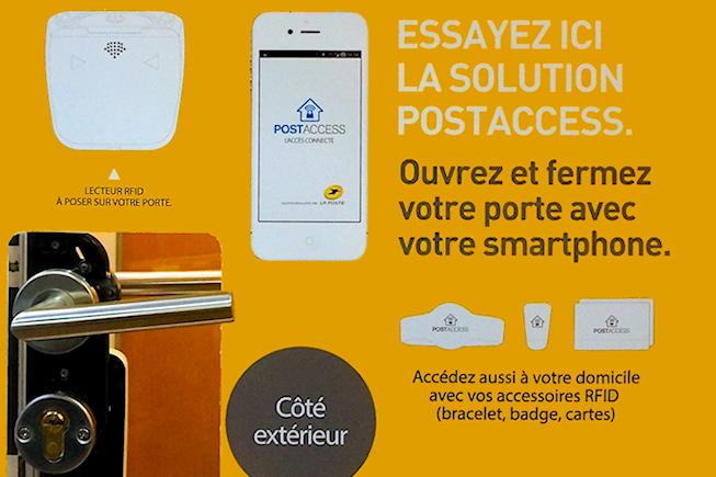 La Poste gère les accès à votre domicile via mobile