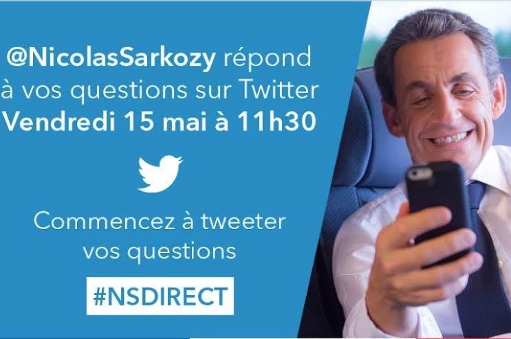 Nicolas Sarkozy sous les projecteurs de Twitter le 15 mai