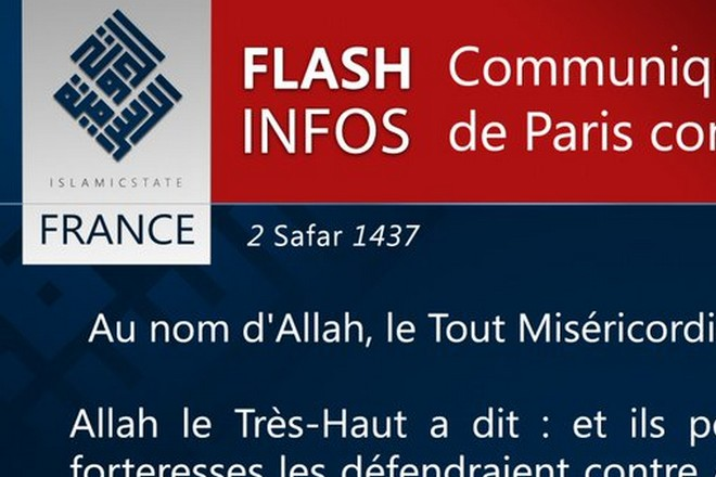 communiqué de presse Daesh - BF2
