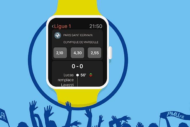 Le PMU propose les paris sportifs en temps réel sur montre connectée