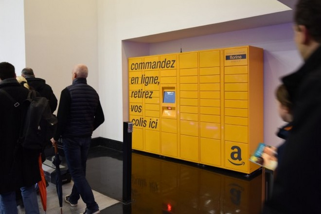 Amazon atteint 95 points de retrait en self service en France