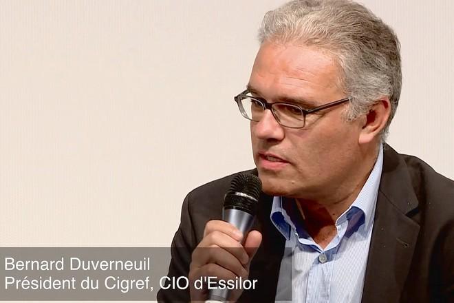 Les 3 priorités 2017 des DSI pour Bernard Duverneuil, Président du Cigref, et DSI d'Essilor