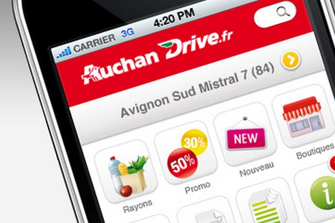 Auchan Drive : les messages géo-localisés en test sur l'App mobile