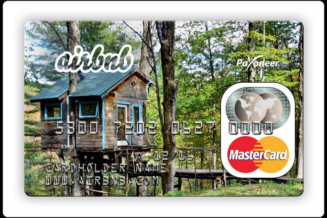 airbnb d livre une carte bancaire permettant de payer les loueurs en toute discr tion la revue. Black Bedroom Furniture Sets. Home Design Ideas