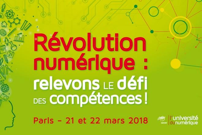 4ème Université du numérique du Medef: 21 et 22 mars 2018