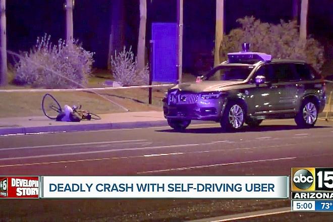 une voiture autonome d uber tue une femme de 49 ans la revue du digital. Black Bedroom Furniture Sets. Home Design Ideas