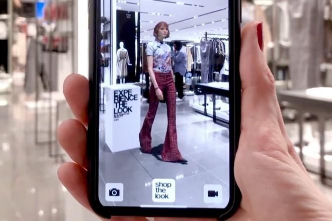 Réalité augmentée dans les magasins Zara