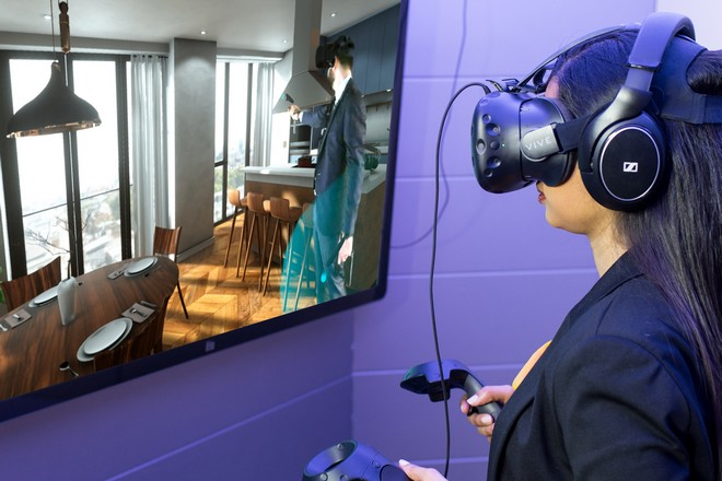 Réunion virtuelle par hologramme interposé dans l'immobilier démontrée par BNP Paribas Real Estate