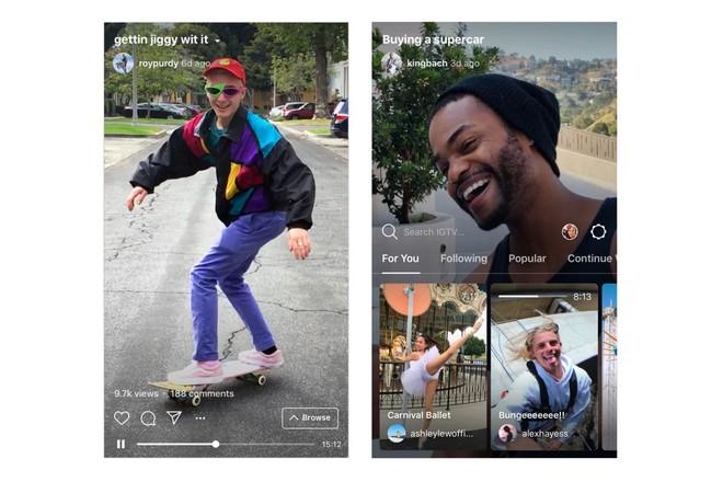 Instagram propose des vidéos durant jusqu'à 1 heure