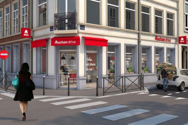 9124af3a382 Auchan ouvre son 1er Drive Piéton à Lille mariant digital et proximité
