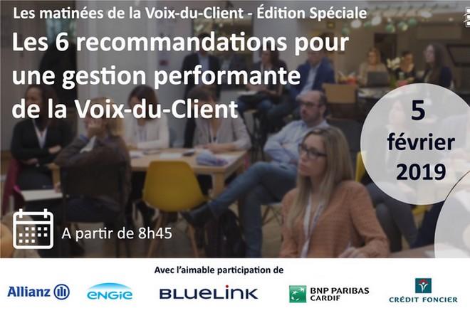 5 février 2019: matinée exceptionnelle de la Voix-du-Client