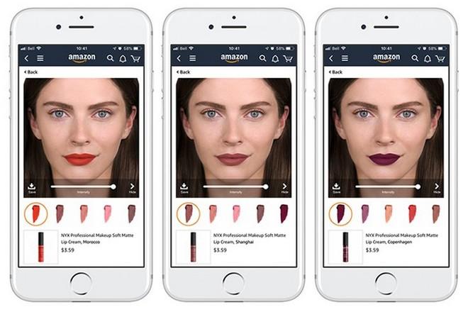 Essayage virtuel de rouges à lèvres sur Amazon grâce à L'Oréal
