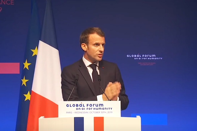 Discours d'Emmanuel Macron au Global Forum on AI for humanity