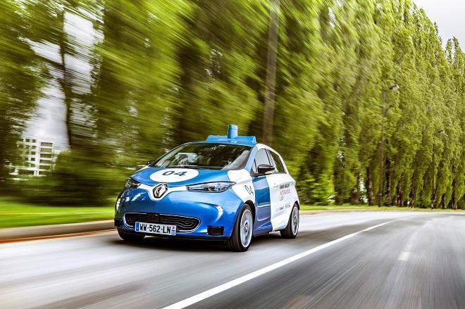 Voiture autonome Renault Zoe testée sur le campus Paris-Saclay