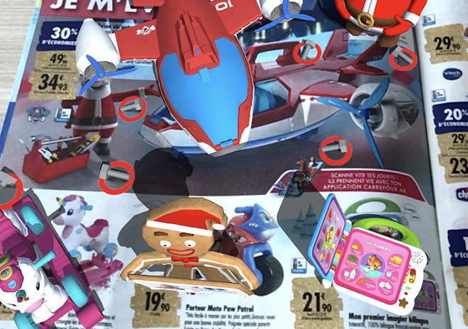 Carrefour injecte de la réalité augmentée dans son catalogue de jouets