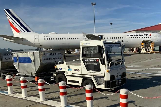 Transfert de bagages par véhicule autonome à l'aéroport de Toulouse