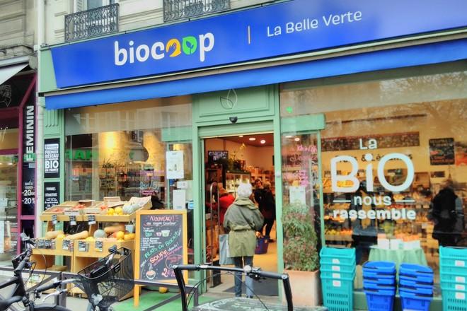 Biocoop met ses produits bio à la vente en e-commerce