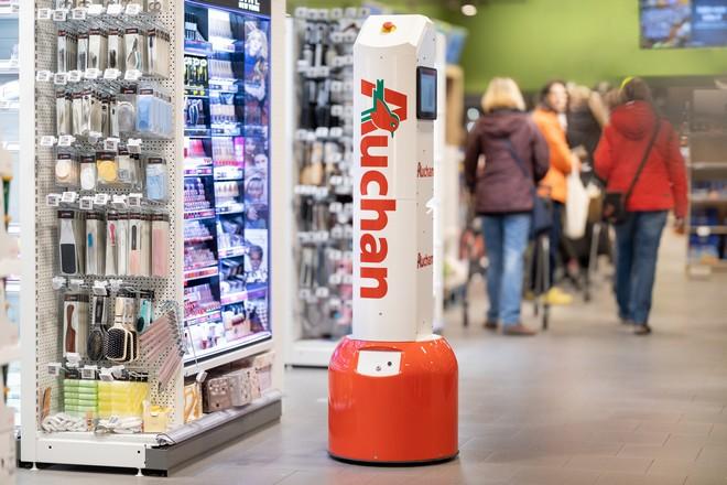 Auchan déploie des robots de surveillance du remplissage des rayons