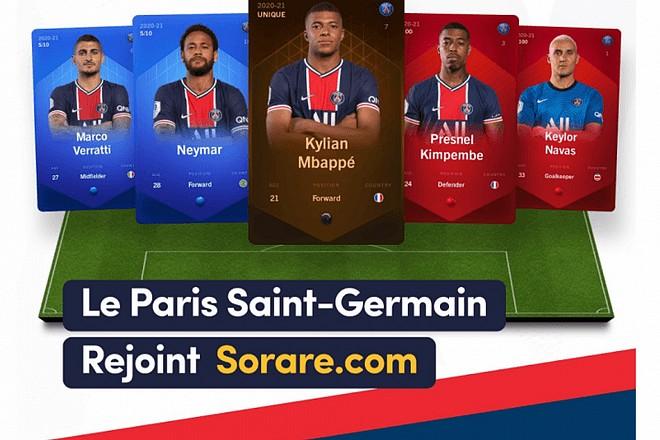Le PSG rejoint une blockchain de collection de cartes de footballeurs