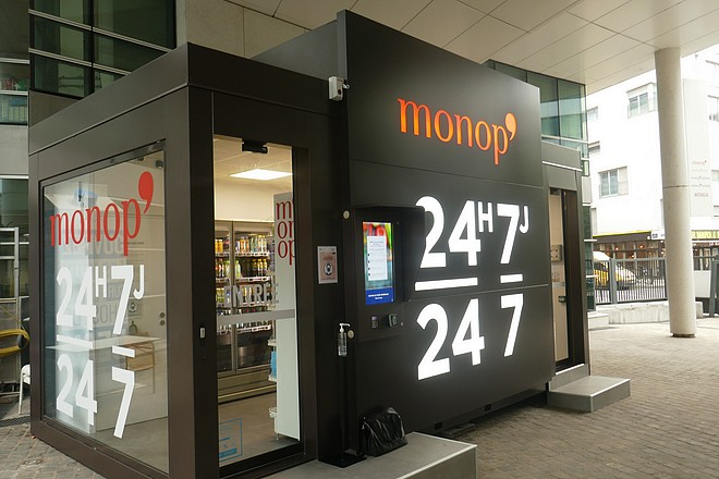 Monoprix prêt à ouvrir son premier point de vente 100% autonome