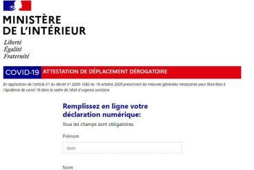 Attestation de déplacement lors du couvre-feu : numérique ou papier, le formulaire est disponible
