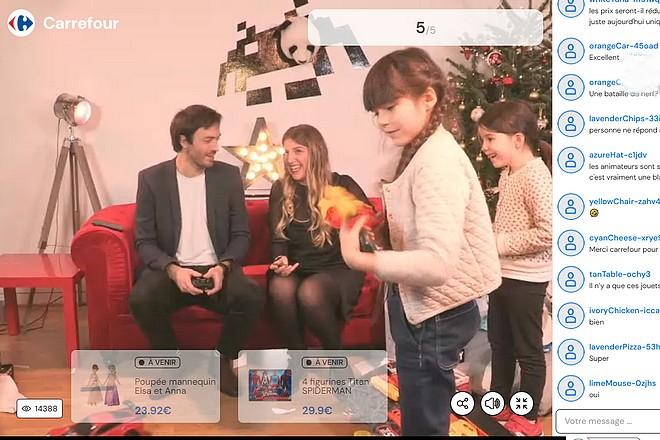 Carrefour livre un premier « live shopping » difficile à suivre
