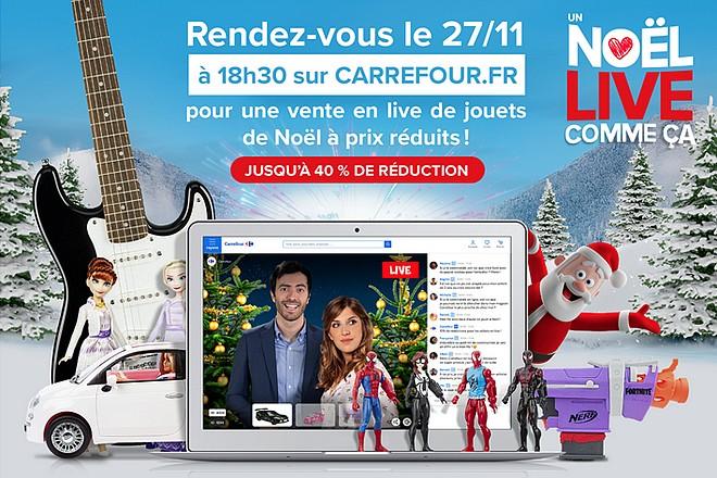 Carrefour anime 3 sessions de « live shopping » pour Noël