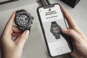 Les montres de luxe Hublot garanties par reconnaissance visuelle électronique et blockchain