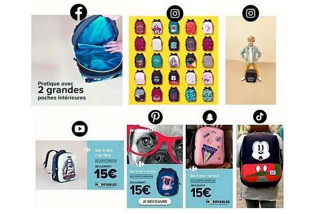 La création publicitaire industrielle retenue par Carrefour pour les réseaux sociaux
