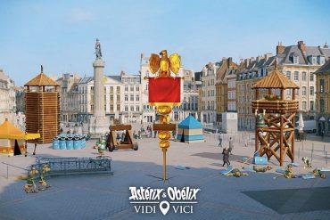 Astérix et Obélix en réalité augmentée dans les librairies lors du lancement du nouvel album