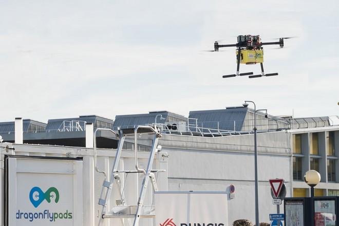 Le marché de Rungis teste le transport de marchandises par drone